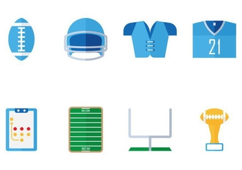American Football Flat Icon - vector gratuit(e) #353657