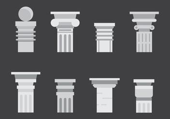 Free Roman Pillar Vector Icons #2 - Free vector #353747