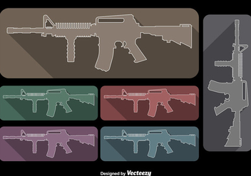 AR15 Rifle Vectors - Free vector #353787
