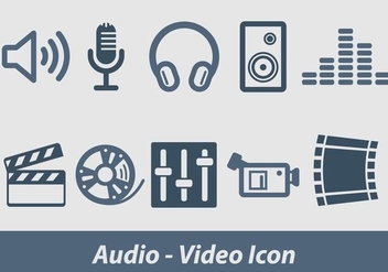Audio And Video Vector Icon - vector gratuit(e) #354057