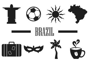 Brasil Minimalist Vector Icons - Free vector #354147