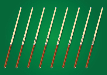 Pool Sticks Vector Collection - Free vector #354207