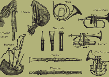 Wind Instruments - vector gratuit #354267