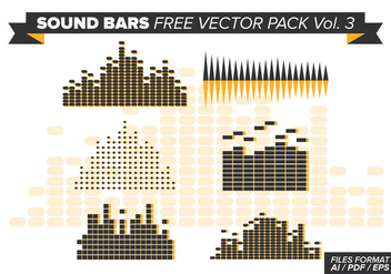Sound Bars Free Vector Pack Vol. 3 - Free vector #354317