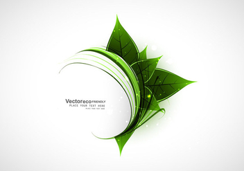 Natural Green Leaves With Swirled Waves - бесплатный vector #354687