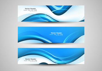 Abstract Wave Banner - vector gratuit #354707