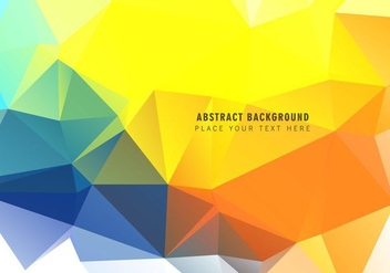 Polygonal Triangular Abstract Background - vector #354787 gratis