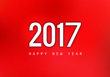 Happy New Year 2017 On Red Background - vector gratuit(e) #355047