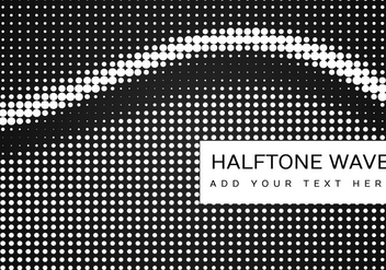 Black And White Halftone Pattern - vector gratuit(e) #355097