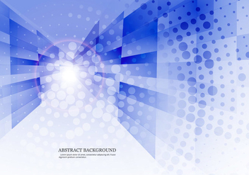 Dotted Blue Abstract Background - Kostenloses vector #355117