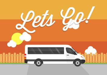 Let's Go! Minibus Vector - бесплатный vector #355157