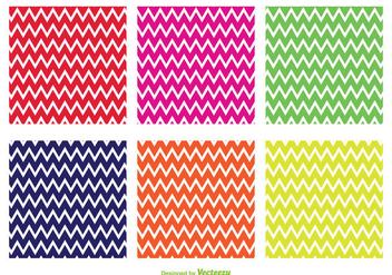 Bright Zig Zag Vector Patterns - Free vector #355327