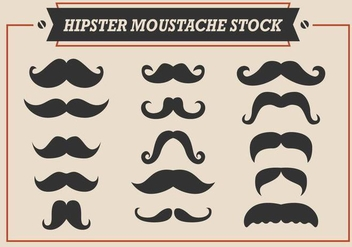 Hipster Moustache Stock Vectors - бесплатный vector #355347