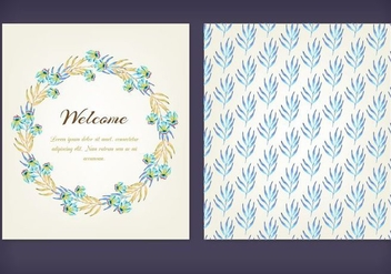 Floral Watercolor Free Vector Cards - vector gratuit(e) #355397