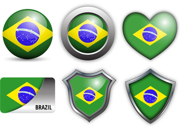 Free Brazil Flag Icons Vector - Free vector #355457