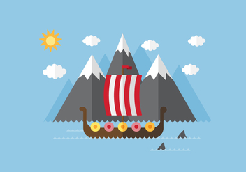 Vector VIking Ship - vector gratuit #355637