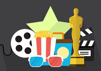 Movie Vector Icons - vector gratuit #355667