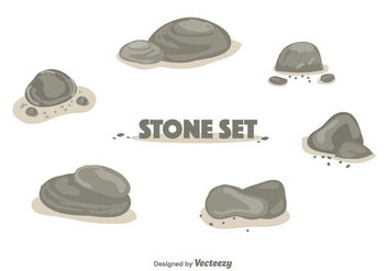Stone Set Vector - Free vector #355767