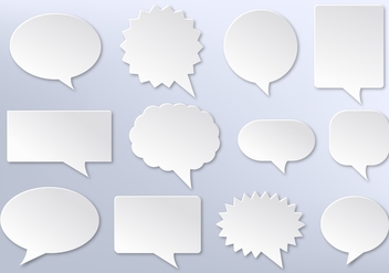 Free Vector Imessage, White Communication Bubbles - Kostenloses vector #355837