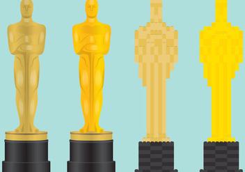 Oscar Statue Vectors - бесплатный vector #355847