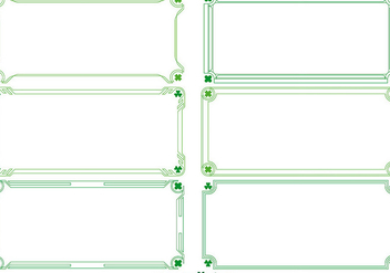 Green Vector Decorative Borders with Clovers - Free vector #356147
