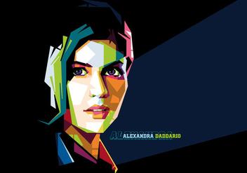 Alexandra Daddario Vector Portrait - Kostenloses vector #356587