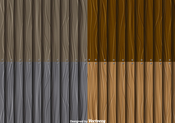 Wooden Planks Backgrounds Vector Set - бесплатный vector #356667