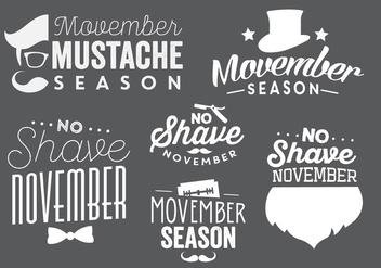 Typographic Movember Vectors - vector #356887 gratis