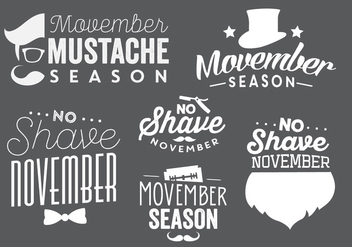 Typographic Movember Vectors - Free vector #356887