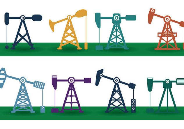 Oil Field Vector - vector gratuit #357077