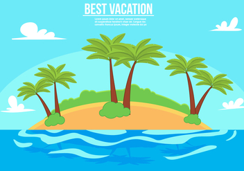 Free Vacation Vector Illustration - Free vector #357127
