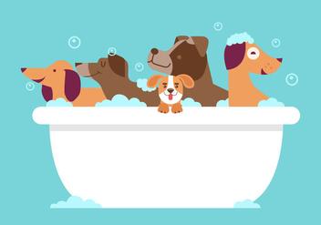 Dog Wash Vector - Free vector #357217