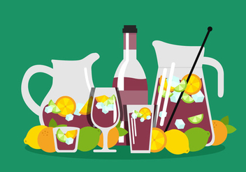 Sangria Vector Pitcher - vector gratuit #357237