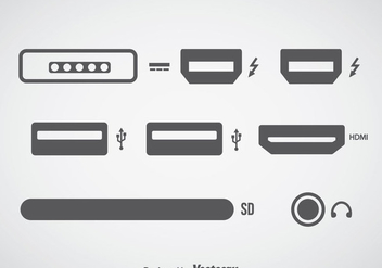 Computer Connection Icons Sets - Kostenloses vector #357357