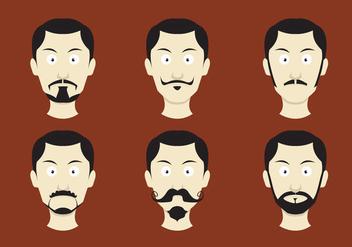Movember Mustache Vectors - Free vector #357547