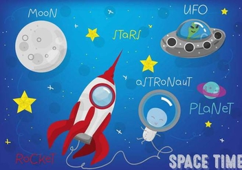 Free Space Landscape Vector - Free vector #357617