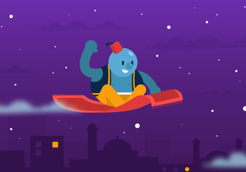 Vector Magic Carpet Ride Background - Free vector #357777