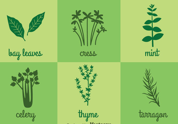 Herbs And Spices Icons - vector #357807 gratis