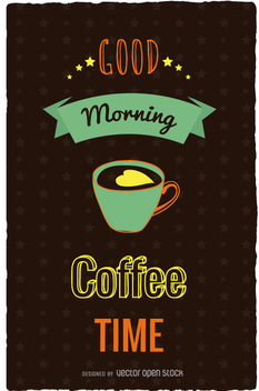 Coffe time retro poster - Free vector #357867