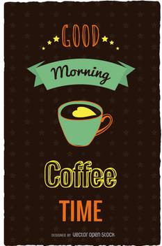 Coffe time retro poster - Kostenloses vector #357867