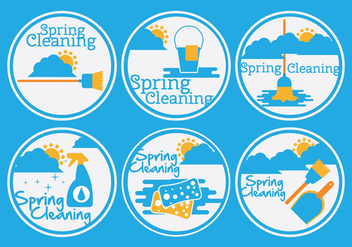 Spring Cleaning Vector - Free vector #357957