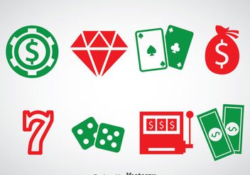 Casino Royale Ellement Icons Vector - Free vector #357967