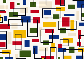 Free Retro Bauhaus Vector Background - Free vector #357977