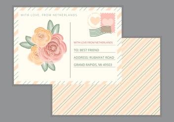 Vector Postcard - vector gratuit #358117