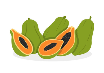 Papaya Vectors - vector gratuit #358127