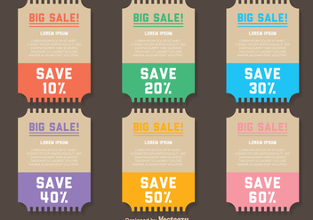 Big Sale Vector Tickets - vector #358137 gratis