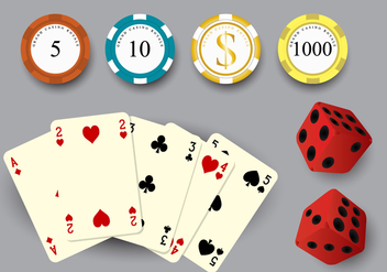 Gambling Stuff Vector Set - Free vector #358167