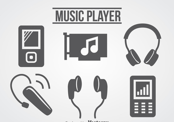 Music Player Icons Vector - бесплатный vector #358367