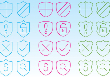 Shield Icons For Web - vector gratuit #358457