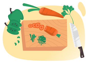 Vector Cutting Vegetables - vector gratuit #358527